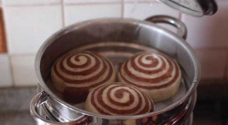 Girelle bicolore sofficissime da cuocere al vapore: non tratterrete la vostra golosità