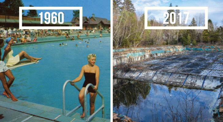Er sammelt Postkarten aus den 60er Jahren und geht dann auf die Suche nach den Orten: Was er dann verewigt ist wunderschön