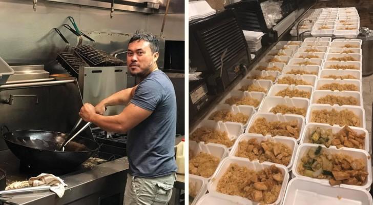 Cucinano più di 1000 pasti per le vittime dell'uragano ma nessuno ne parla: un post cambia la storia