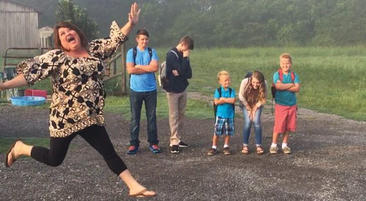 Des mamans et des papas publient sur internet cet horrible moment où les enfants retournent à l'école