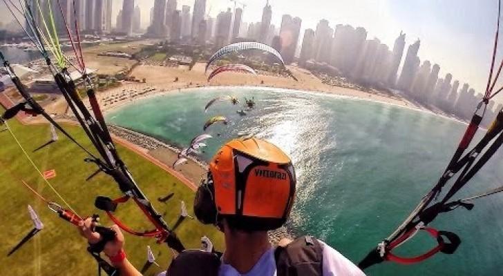 Voando sobre Dubai