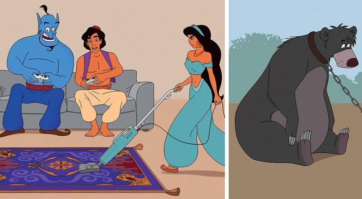 Come sarebbe se i personaggi Disney vivessero nel presente? Questo illustratore se li immagina così