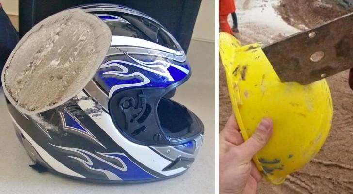 Usare il casco può salvarti la vita: guarda queste immagini e capirai perché