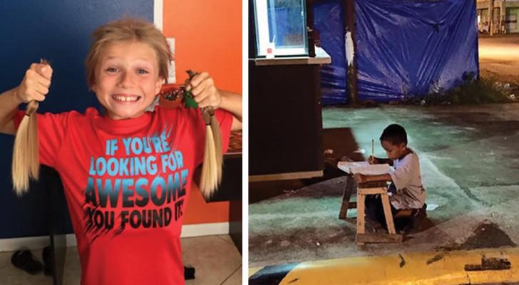 20 photos d'enfants qui ont accompli des actes de générosité exemplaires