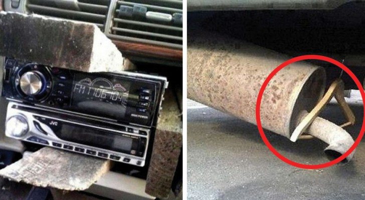 15 riparazioni di automobili tanto assurde (e pericolose) quanto geniali