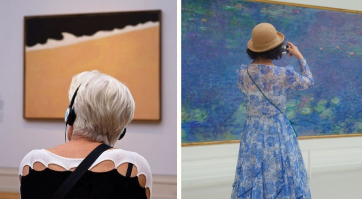 Fotograaf brengt uren in musea door om bezoekers met schilderijen te koppelen. Het is het wachten waard