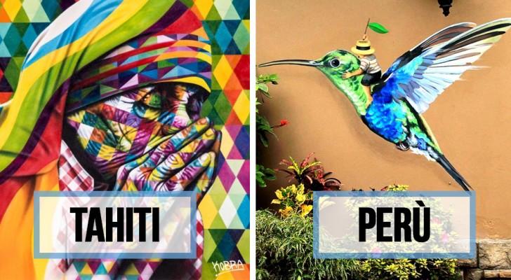 20 murales in giro per il mondo che ti faranno venire la pelle d'oca