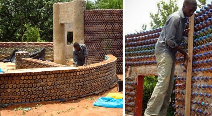 Casas construídas com garrafas de plástico: a solução econômica, antissísmica e ecológica