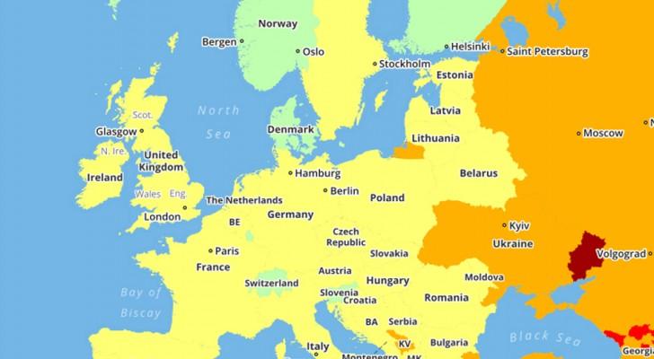 Deze kaarten van de gevaarlijkste landen ter wereld in 2018 kunnen mogelijk je reisplannen beïnvloeden