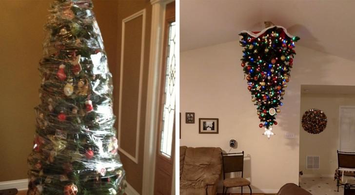 12 soluzioni creative che i proprietari di animali hanno trovato per proteggere l'albero di Natale