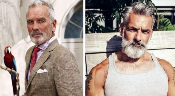 21 snygga män med grått hår