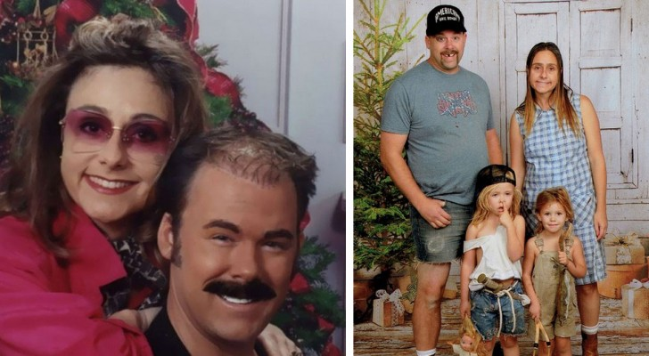 Cette famille envoie depuis 15 ans les cartes de Noël les plus absurdes et amusantes