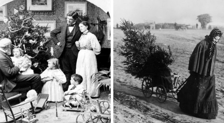 Deze 20 zeldzame foto's laten Kerst in het Victoriaanse tijdperk zien
