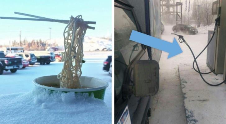 22 foto che ti convinceranno che in alcuni luoghi l'inverno è davvero freddo