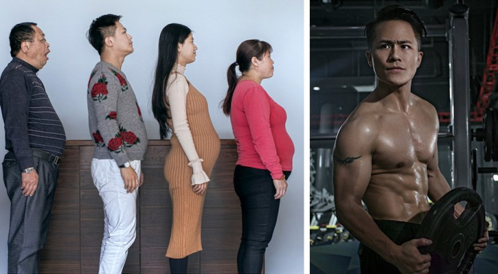 Eine ganze Familie trainiert 6 Monate lang: Die vorher-nachher Bilder machen sprachlos