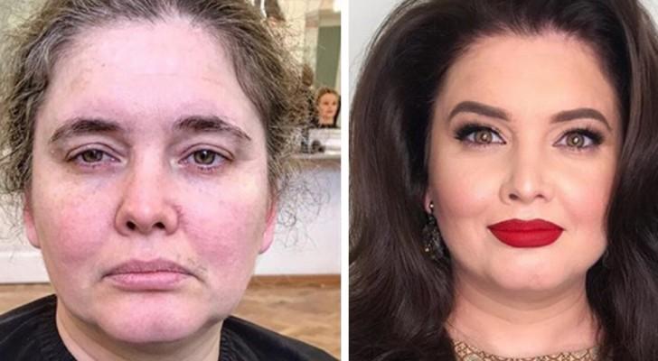 Questo truccatore cerca di far sorridere le donne, regalando loro dei make up da urlo