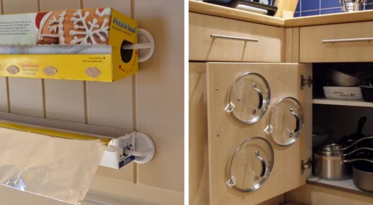 Como usar simples ganchos de pl stico para organizar a for Ganchos de plastico