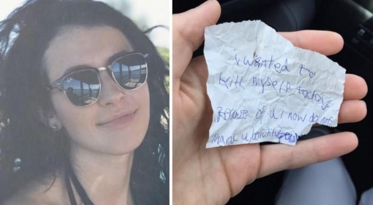Chiede ad un senzatetto di sedersi a mangiare con lei: alla fine lui le lascia un messaggio straziante