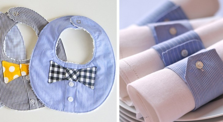 10 beautiful DIY projects to upcycle old and used men's shirts