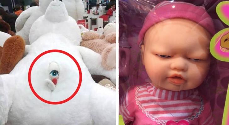 18 stuks angstaanjagend speelgoed die niet eens in de schappen zouden moeten liggen