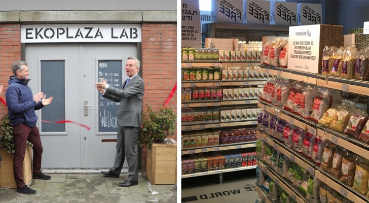 Apre ad Amsterdam il primo supermercato al mondo privo di plastica