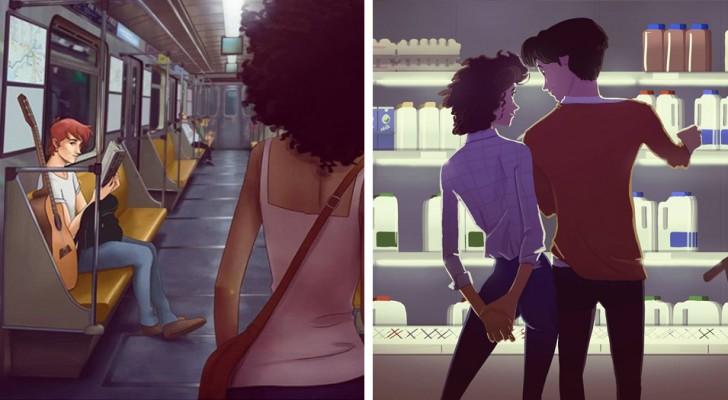 Questo illustratore realizza disegni che chiunque sia stato innamorato comprenderà