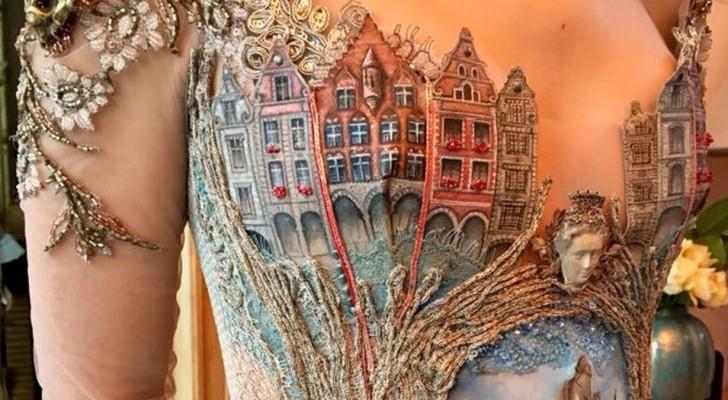 Elke jurk is een meesterwerk van nauwkeurigheid: de creaties van deze Franse ontwerpster zijn een droom