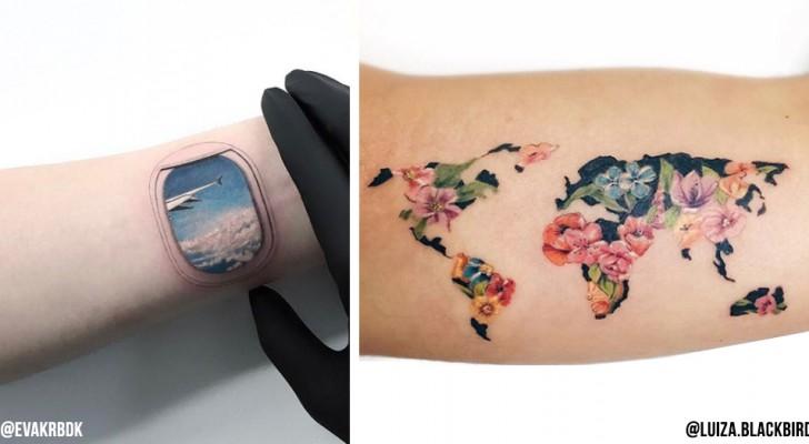 20 idee per un tatuaggio che chi ama viaggiare non dovrebbe lasciarsi sfuggire