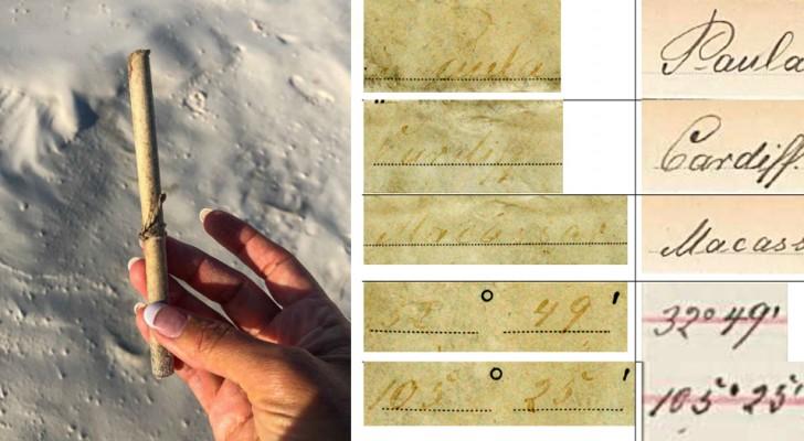 Deze flessenpost gevonden in Australië lag 132 jaar in zee en is het oudste in de geschiedenis