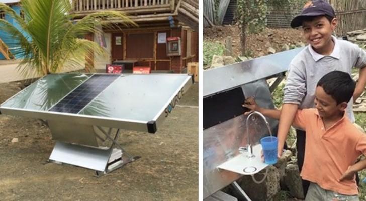 Ein Start-Up realisiert ein Solarpanel, das Trinkwasser aus Luft herstellt