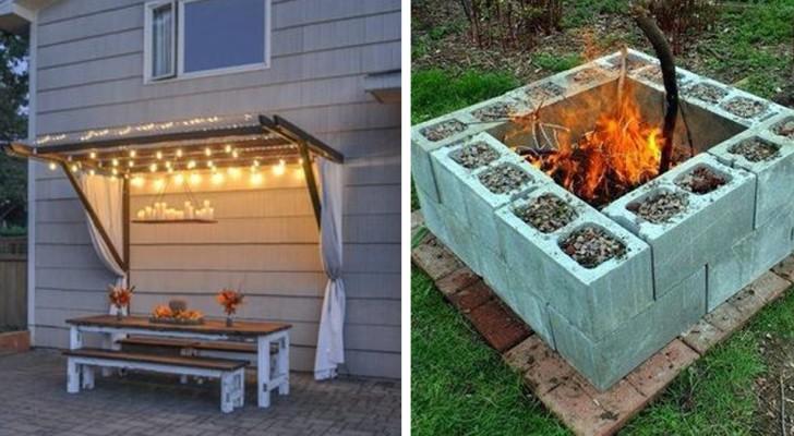 Ecco qualche idea fai-da-te per dare un tocco nuovo al giardino di quest'anno senza spendere una fortuna