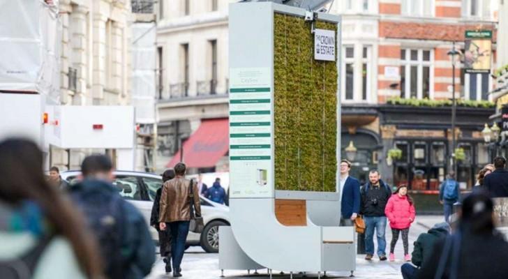 Ce banc technologique peut absorber plus de smog qu'une petite forêt