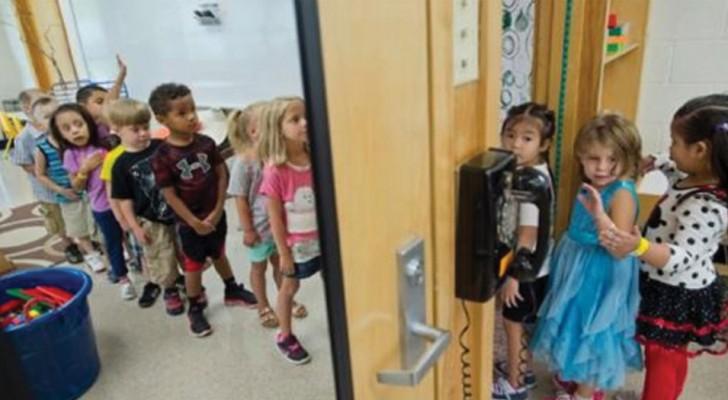 A la escuela los niños llegan con una pesima higiene, luego los maestros crean para ellos un armario especial