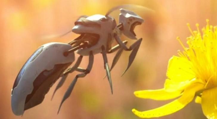 Una nota multinazionale brevetta delle api robot per l'impollinazione automatica dei propri campi