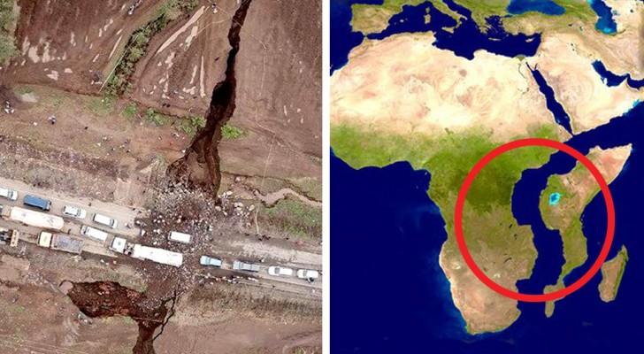 Kenya, la terra si apre in due: le impressionanti immagini della frattura che finirà per creare un nuovo continente