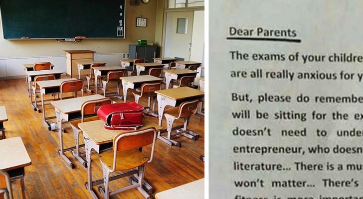 Prima dell'esame finale, un preside invia ai genitori un messaggio che vale la pena leggere