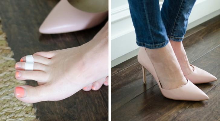 22 truques que vão salvar os seus pés e os seus sapatos de situações difíceis!