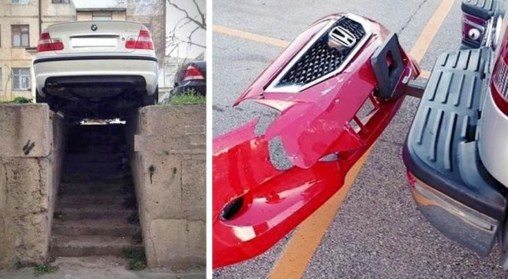 18 fotos de carros estacionados tão mal que você não vai conseguir encontrar uma explicação