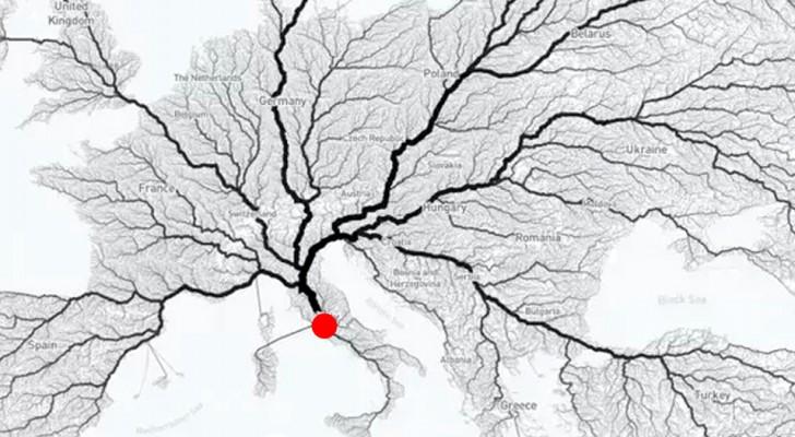 Alle Wege führen nach Rom? Diese Karte zeigt, dass das Sprichwort der Wahrheit entspricht