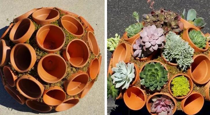 12 idee bellissime per il giardino che si realizzano con dei comuni vasi di terracotta