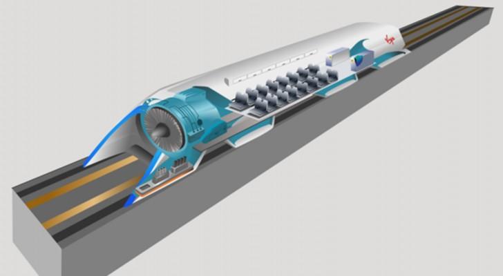 Der Prototyp des Zuges, des mit Schallgeschwindigkeit reist wird innerhalb dieses Jahres in Europa konstruiert