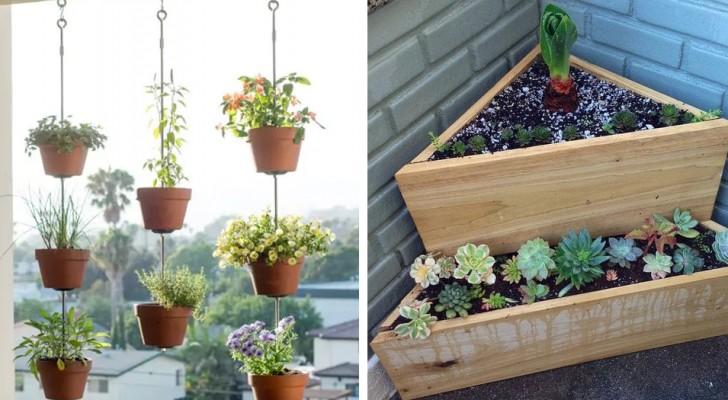 14 tuinideeën om balkons het best uit te laten komen door het minimum te besteden