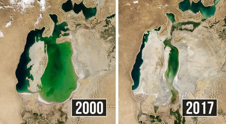 Diese Satellitenbilder zeigen uns wie schnell der Mensch den Planeten zerstört