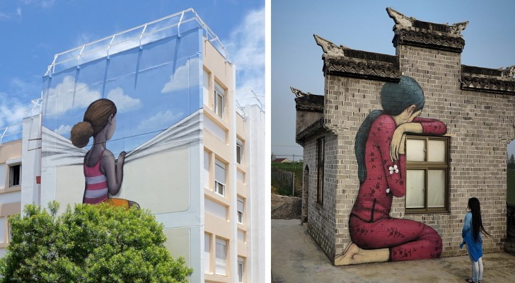 Questo artista francese trasforma anonimi edifici in gigantesche opere d'arte sparse in tutto il mondo