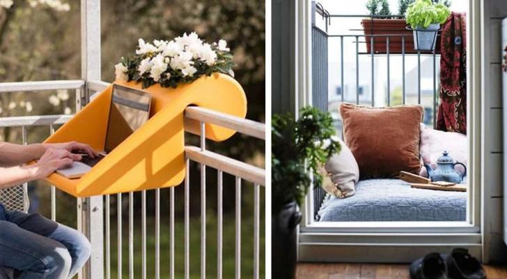 20 idées brillantes pour transformer un petit balcon en un lieu cosy et fonctionnel.