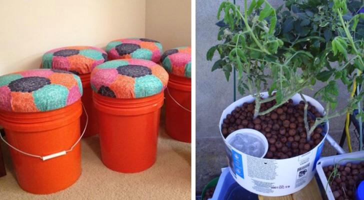 Não coloque fora os baldes de tinta! Veja 18 modos brilhantes de reciclá-los!