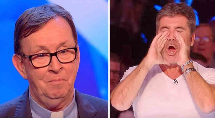 The heavenly voice of Father Ray Kelly overpowers the judges and the public at Britain's Got Talent TV show