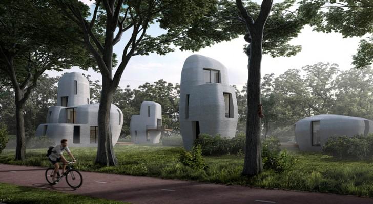 Una città olandese sta creando le prime case abitabili stampate in 3D