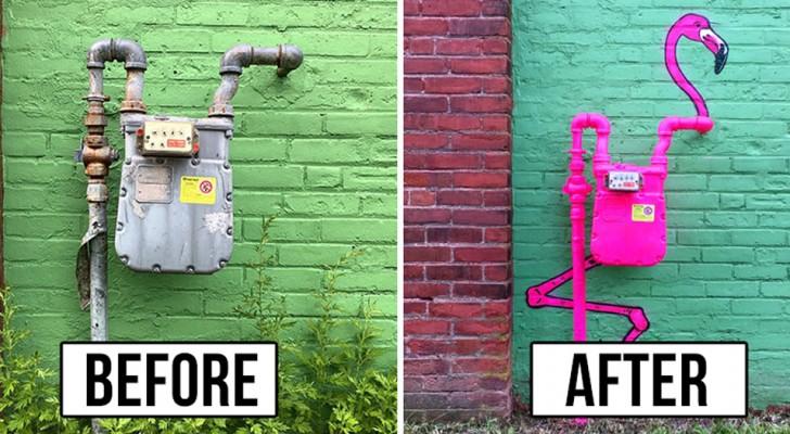 C'è un artista geniale che sta vandalizzando gli spazi cittadini... e speriamo che nessuno lo fermi!
