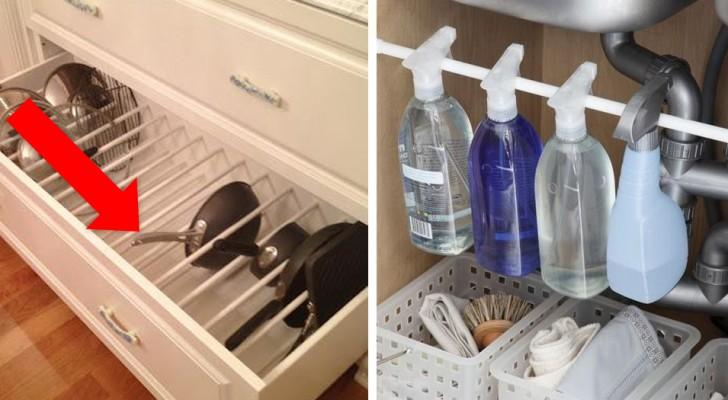 14 modi geniali per riutilizzare le aste per tendine della doccia